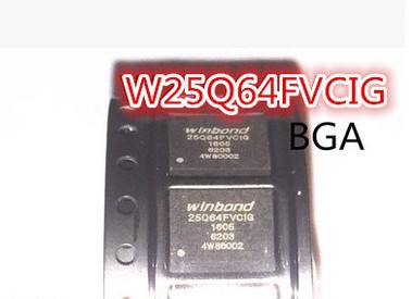 25Q64FVCIG 25Q64 BGA 8MB 5PCS/LOT