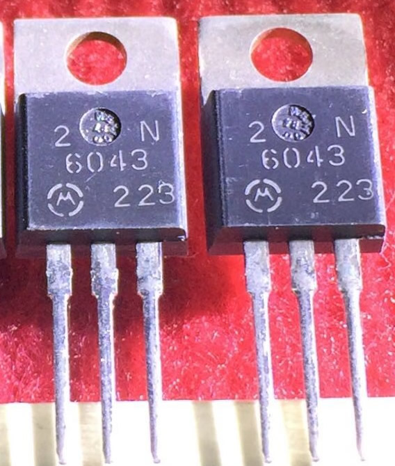 2N6043G 2N6043 New Original ON TO-220 5PCS/LOT