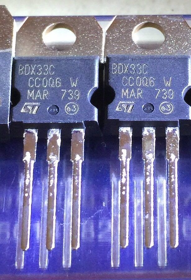 LOT OF 2 BDX33C  TRANSISTOR TO-220