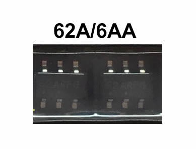 NCP1256BSN65T1G 62A 6AA New 6pins SOT23-6 5pcs/lot